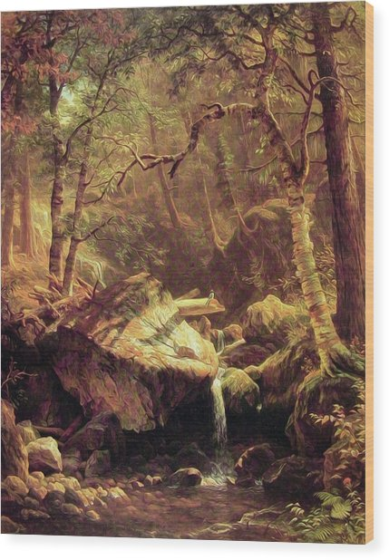 The Mountain Brook Wood Print