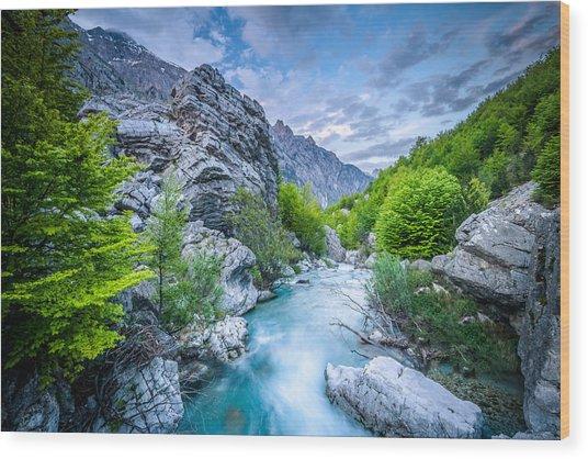 The Mountain Spring Wood Print