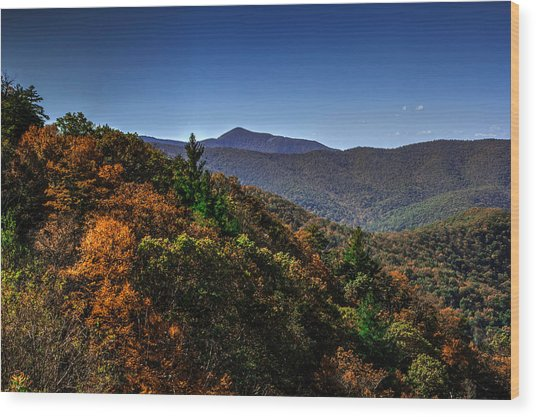The Mountains Win Again Wood Print
