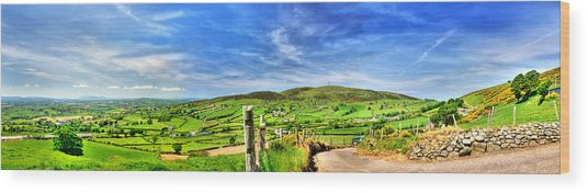 The Mournes Far And Wide Wood Print by Kim Shatwell-Irishphotographer