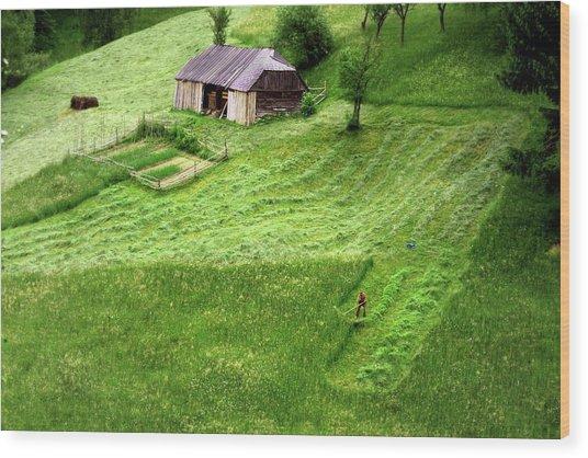 The Mower Wood Print