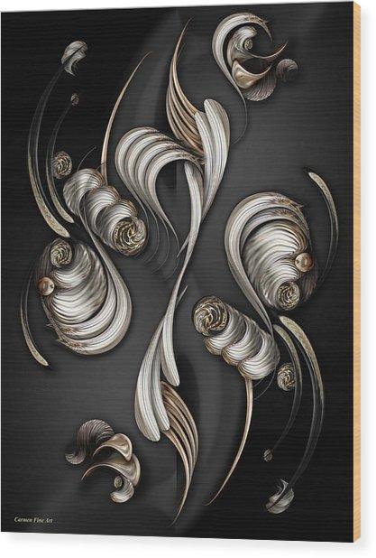 The Mystic Energy Wood Print