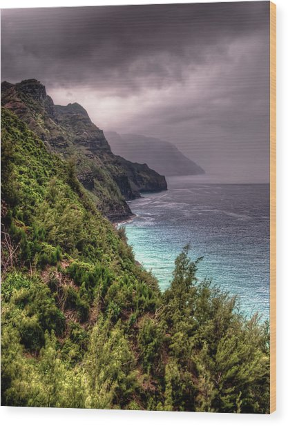 The Na Pali Coast Wood Print