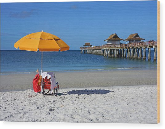 The Naples Pier Wood Print