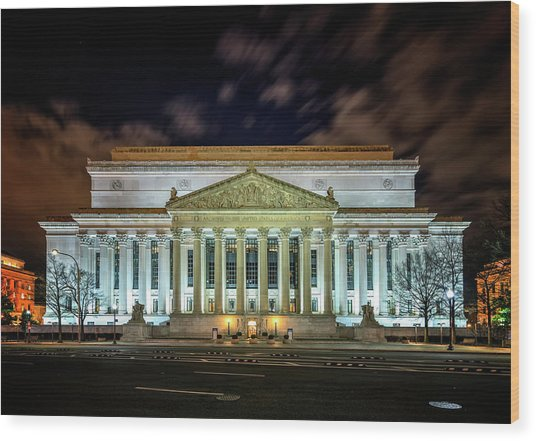 Wood Print featuring the photograph The National Archives by Ryan Wyckoff