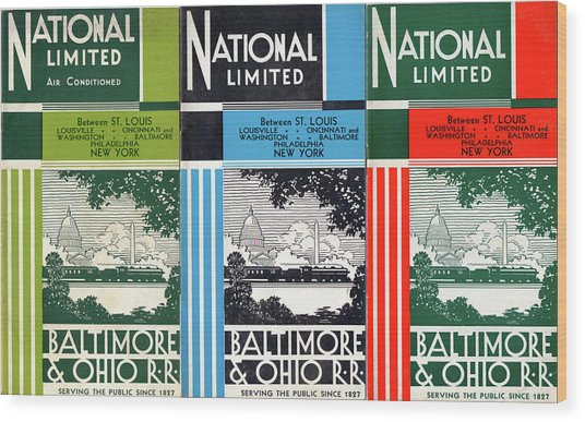 The National Limited Collage Wood Print