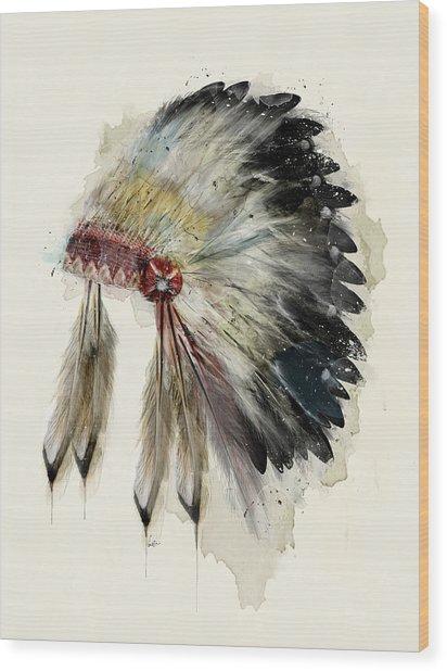 The Native Headdress Wood Print