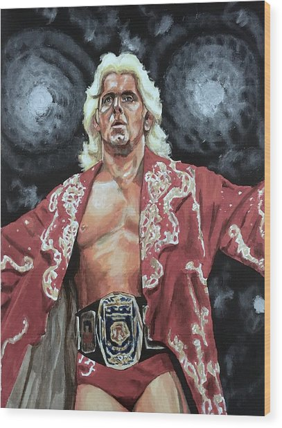 The Nature Boy Ric Flair Wood Print