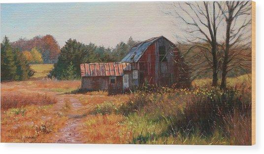 The Neighbor's Barn Wood Print