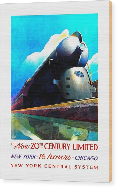 The New 20th Century Limited New York Central System 1939 Leslie Ragan Wood Print