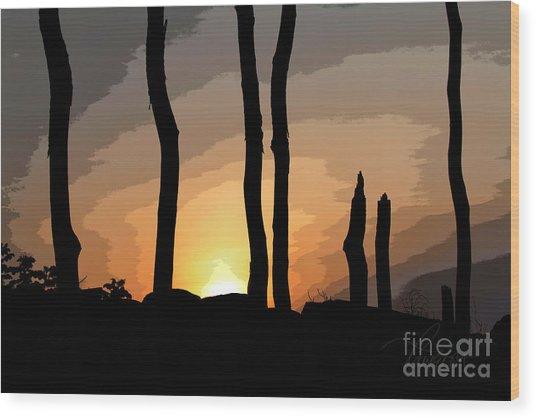 The New Dawn Wood Print