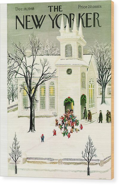 The New Yorker Cover - December 18th, 1948 Wood Print by Conde Nast