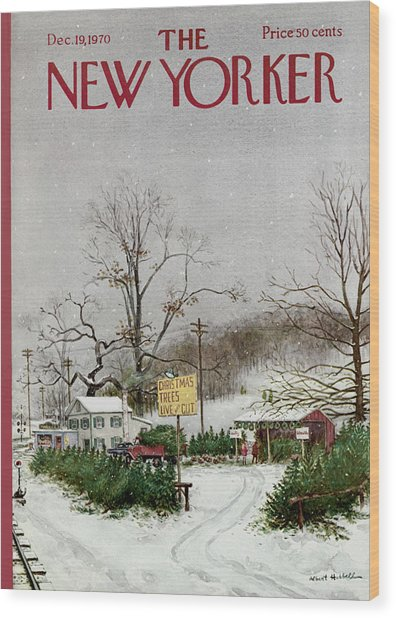The New Yorker Cover - December 19th, 1970 Wood Print