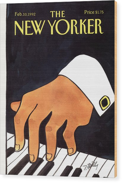 The New Yorker Cover - February 10th, 1992 Wood Print