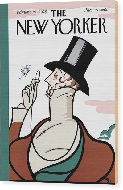 The New Yorker Cover - February 21st, 1925 Wood Print