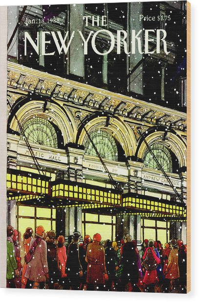 The New Yorker Cover - January 18th, 1988 Wood Print