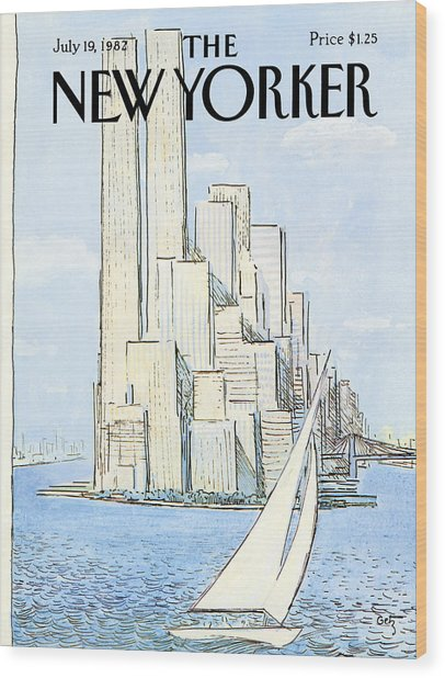 The New Yorker Cover - July 19th, 1982 Wood Print