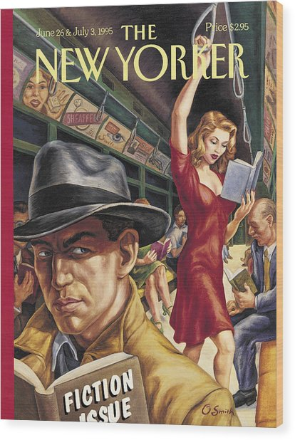 The New Yorker Cover - June 26th, 1995 Wood Print