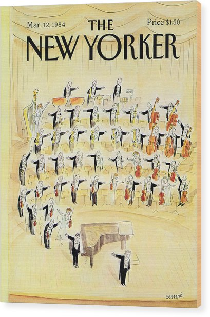 The New Yorker Cover - March 12th, 1984 Wood Print