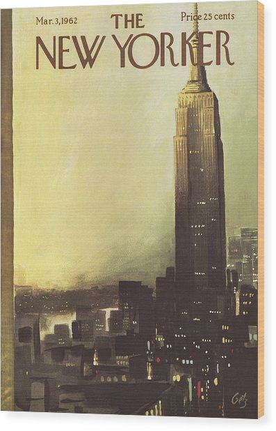 The New Yorker Cover - March 3rd, 1962 Wood Print