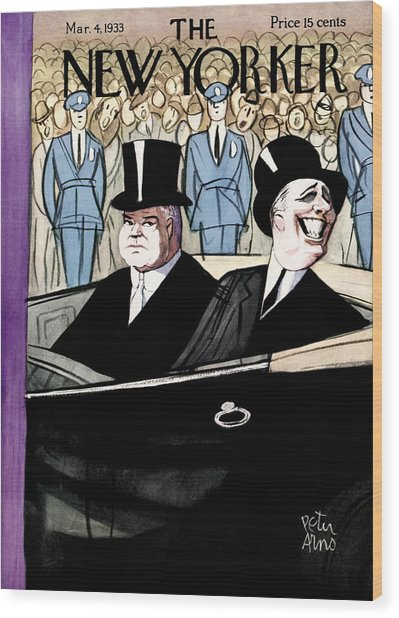 The New Yorker Cover - March 4th, 1933 Wood Print by Peter Arno