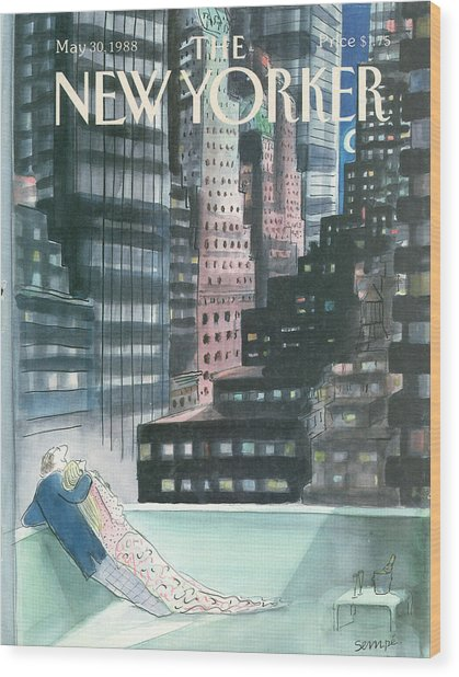 The New Yorker Cover - May 30th, 1988 Wood Print