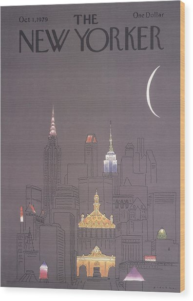 The New Yorker Cover - October 1st, 1979 Wood Print