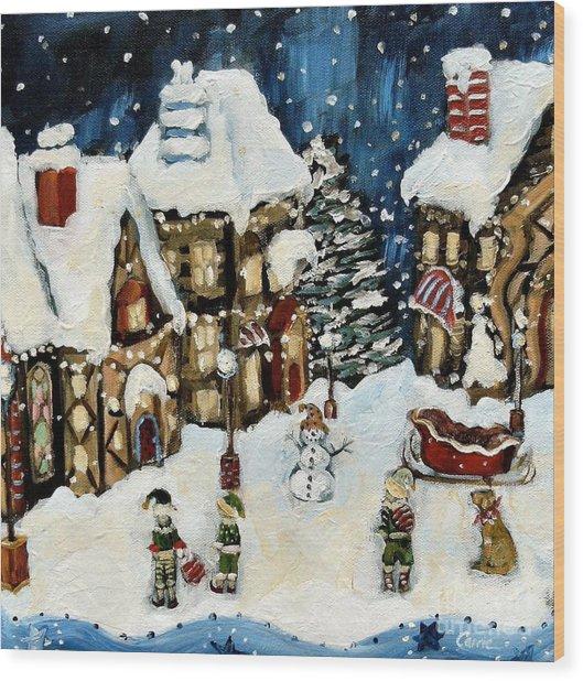 The North Pole Wood Print