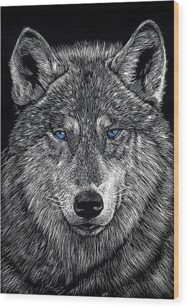 The Obligitory Wolf Wood Print