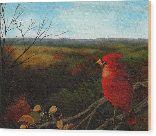 The Ohio Hills Wood Print