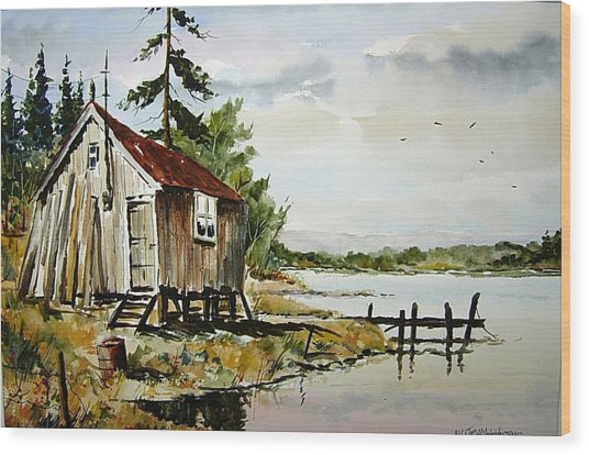The Old Bait Store Wood Print