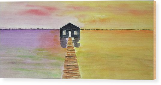 The Old Boat Shed Wood Print