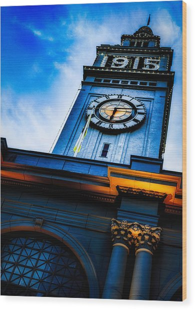 The Old Clock Tower Wood Print
