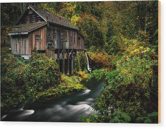 The Old Flour Mill Wood Print