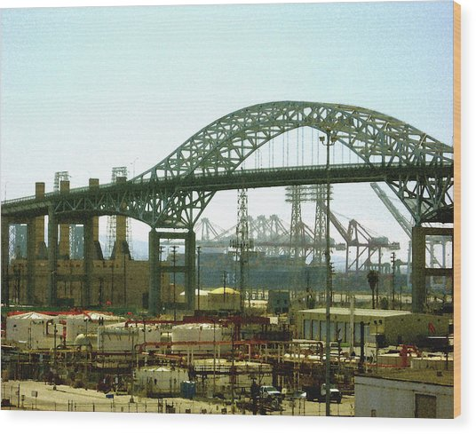 The Old Gerald Desmond Bridge Wood Print