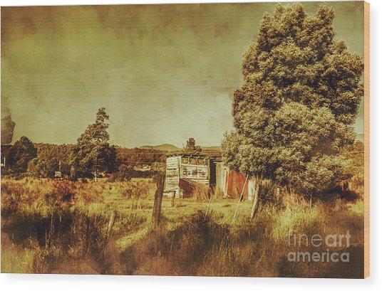 The Old Hay Barn Wood Print