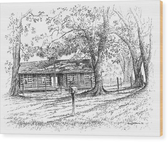 The Old Homeplace Wood Print