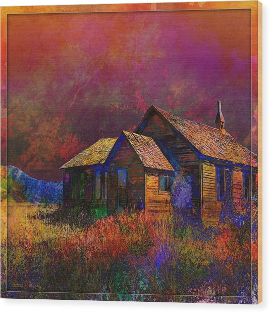 The Old Homestead Wood Print