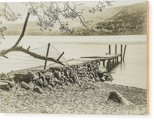 The Old Jetty Wood Print