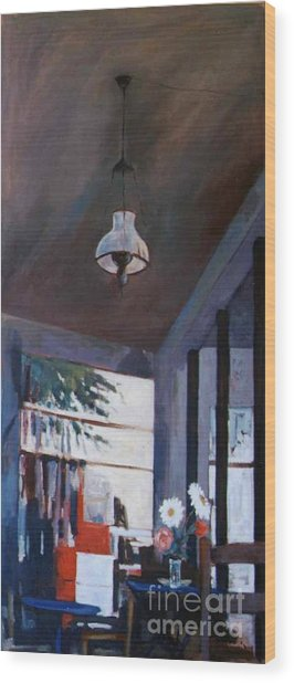 The Old Lamp Wood Print by George Siaba
