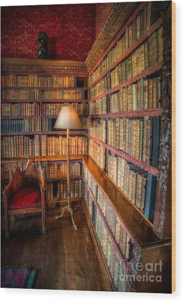 The Old Library Wood Print