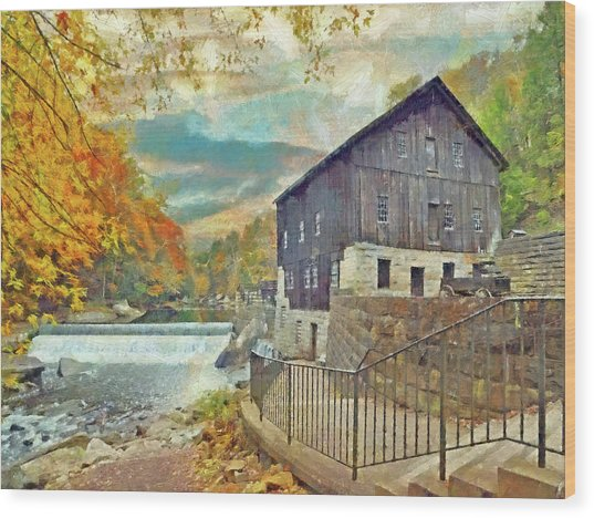The Old Mill At Mcconnells Mill State Park Wood Print