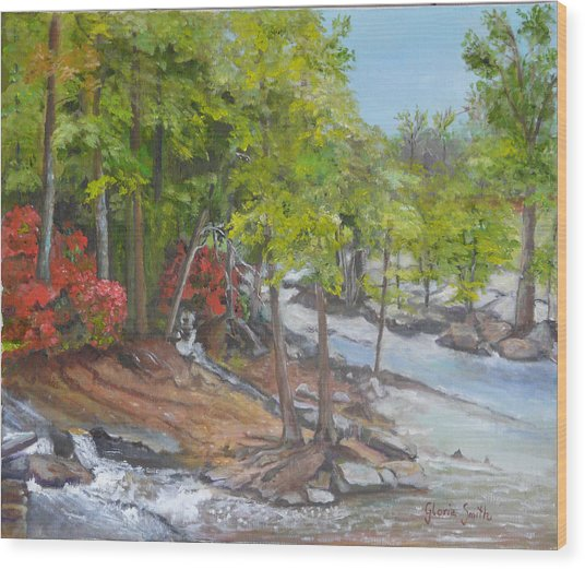 The Old Mill Wood Print by Gloria Smith