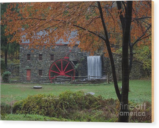 The Old Mill New England  Wood Print