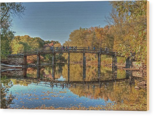 The Old North Bridge Wood Print