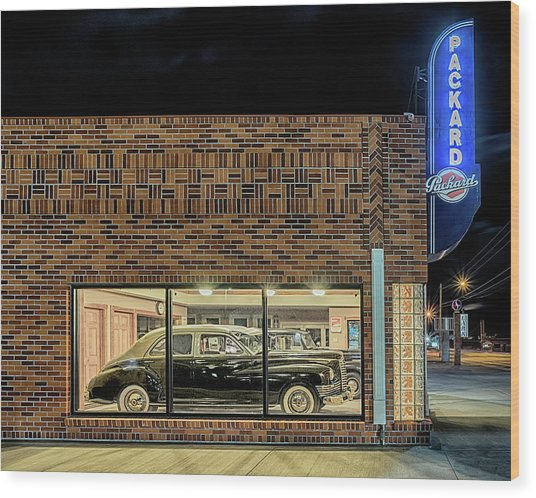 The Old Packard Dealership Wood Print