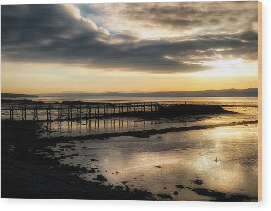 The Old Pier In Culross, Scotland Wood Print
