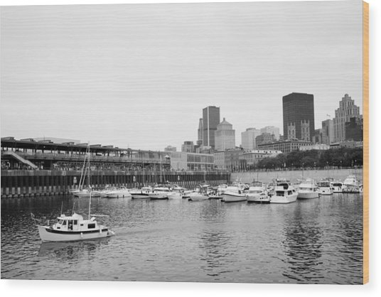 The Old Port In Montreal Wood Print by Martin Rochefort
