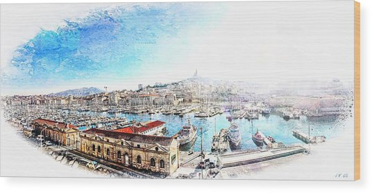 The Old Port Of Marseille  2 Wood Print