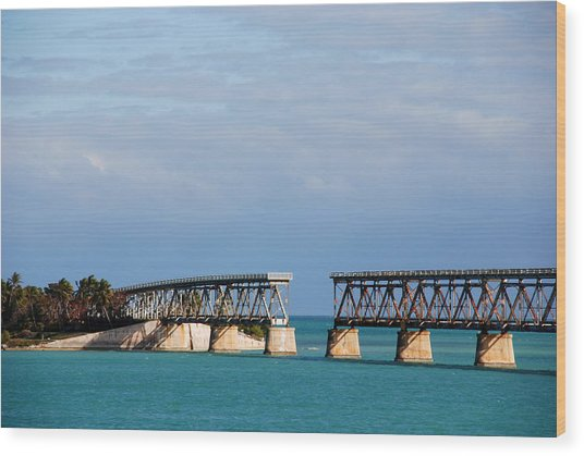 The Old Railroad To The Keys Wood Print